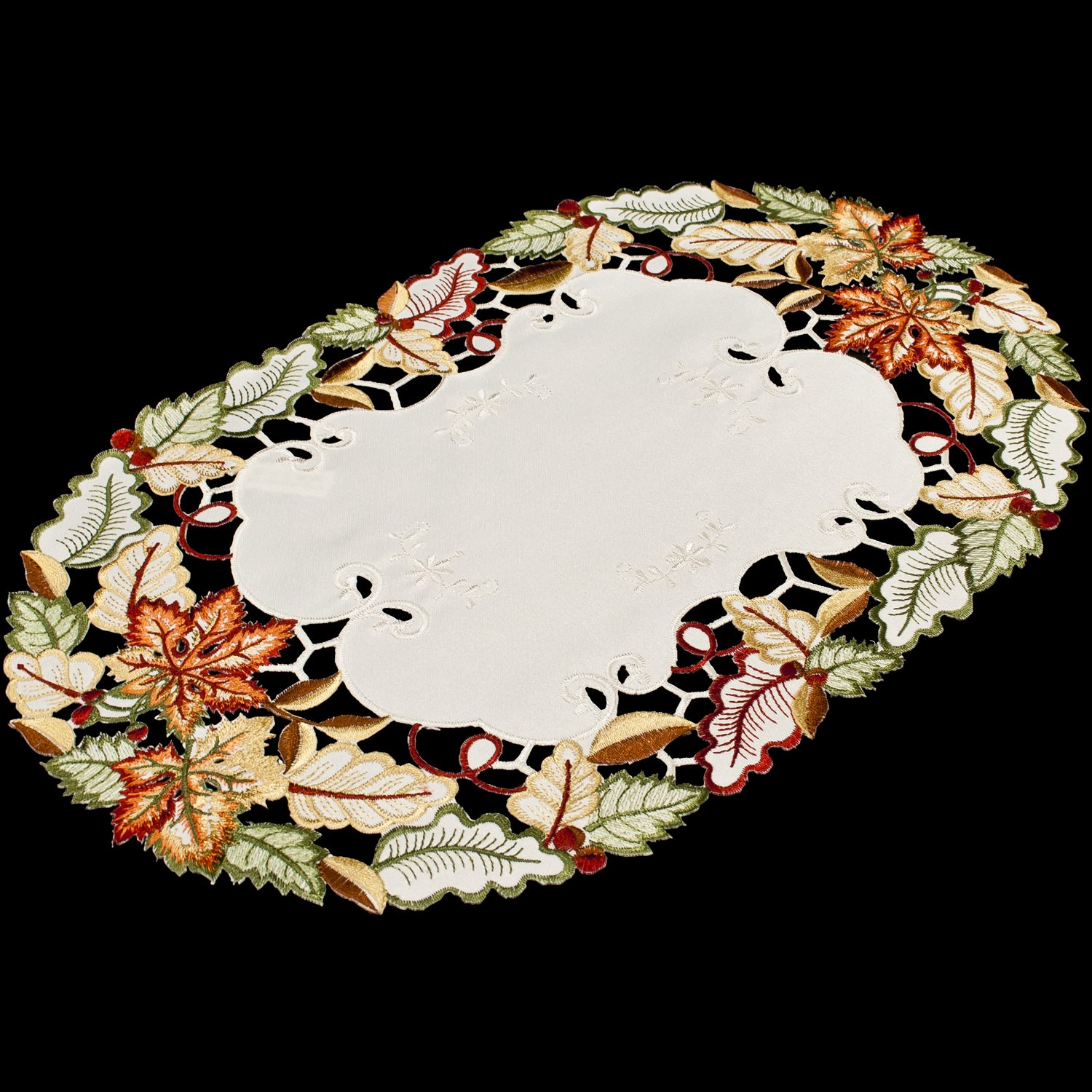 Embroidered Fall Maple Leaf 14 Quot X 21 Quot Place Mats