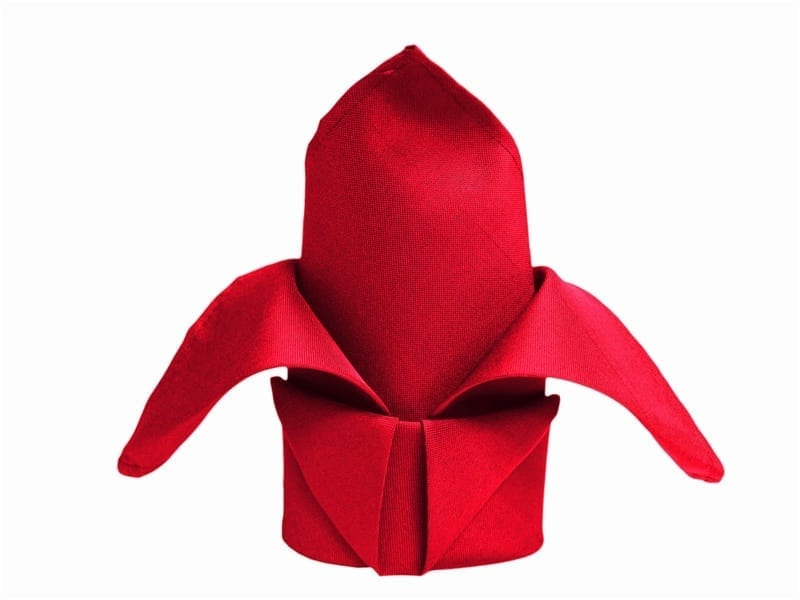 red 20 x 20 polyester napkin
