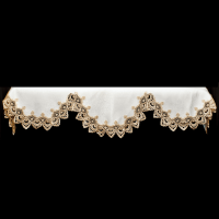 gold peacock lace fireplace mantle scarves