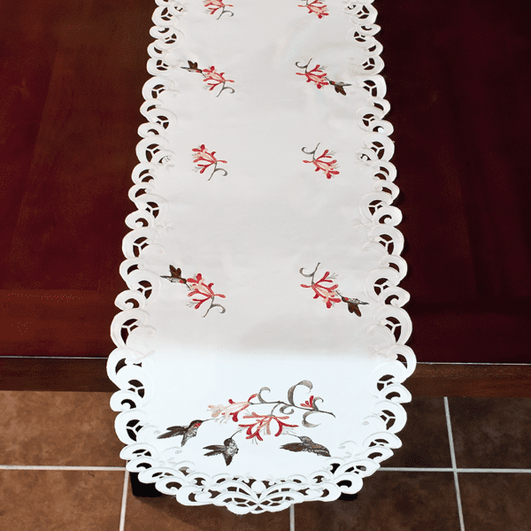Hummingbird And Honeysuckle Table Runners