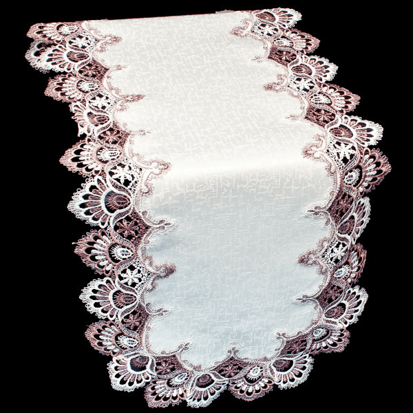 Purple Lace Table Runner