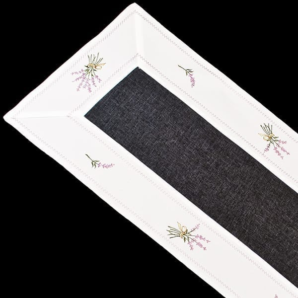 Lavender Linen Fabric Table Runner