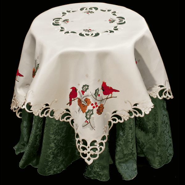 Christmas Red Cardinal Table Topper