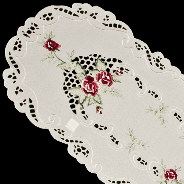 Small Red Rose Table Runner