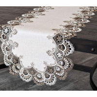 cocoa lace table runner