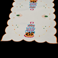 embroidered happy birthday placemat