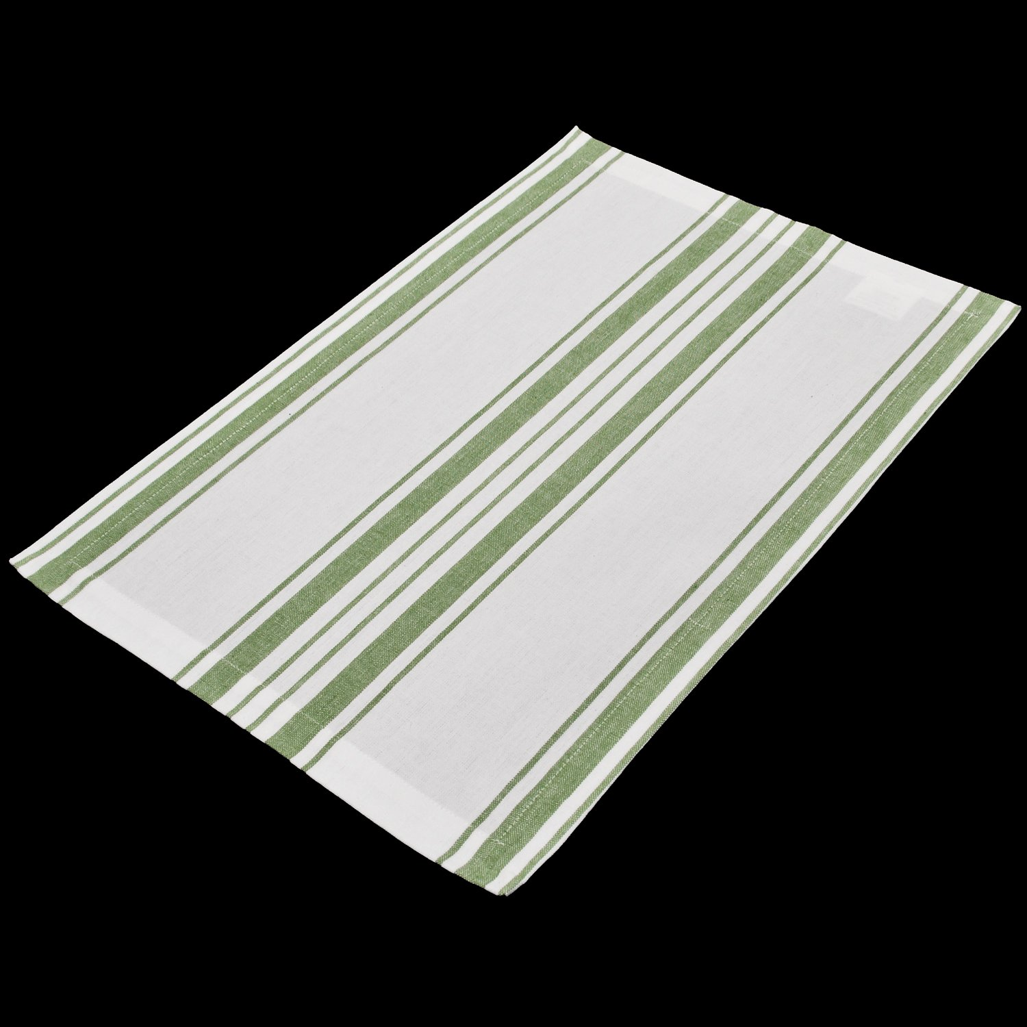 green and white farmhouse place mat