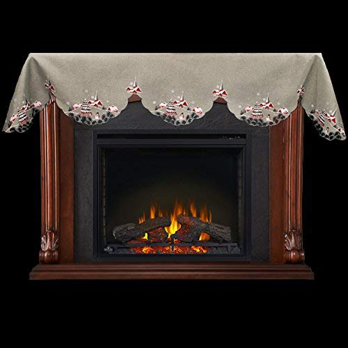 Decor Gt Embroidered Outdoor Christmas Scene On Grey